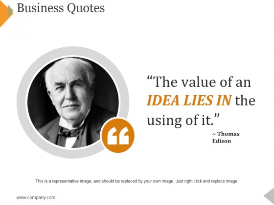 Business Quotes Ppt PowerPoint Presentation Outline Aids