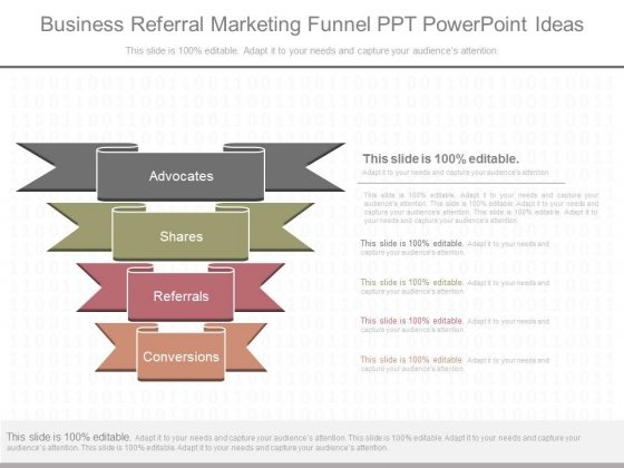 Business Referral Marketing Funnel Ppt Powerpoint Ideas