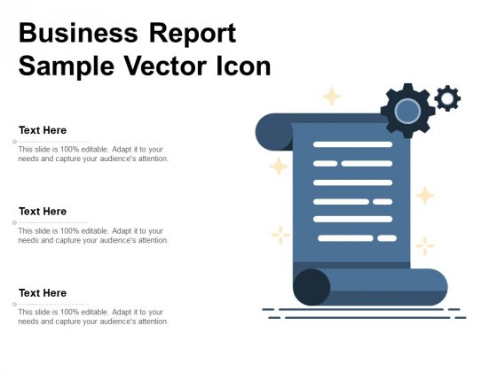 Business Report Sample Vector Icon Ppt PowerPoint Presentation Gallery Background Image PDF