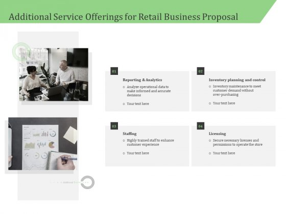 Business Retail Shop Selling Additional Service Offerings For Retail Business Proposal Introduction PDF
