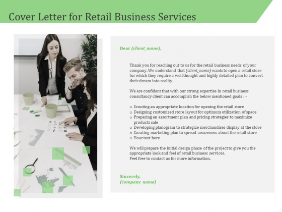 Business Retail Shop Selling Cover Letter For Retail Business Services Topics PDF