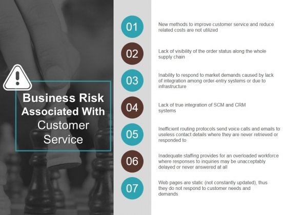 Business Risk Associated With Customer Service Ppt PowerPoint Presentation Outline