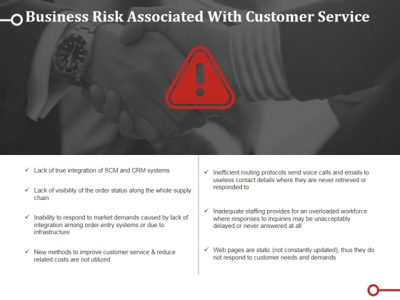 Business Risk Associated With Customer Service Template Ppt PowerPoint Presentation Portfolio Graphics Download