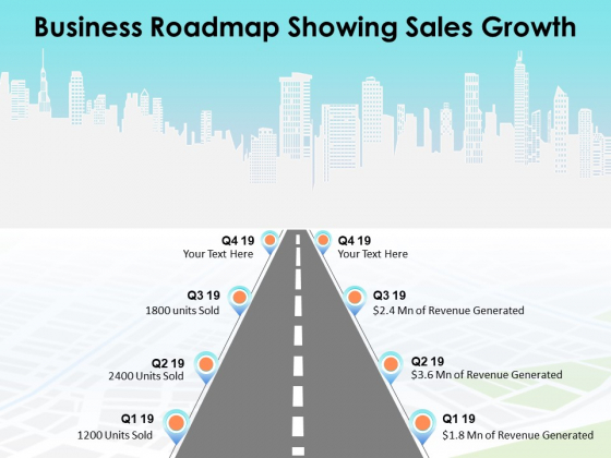 Business Roadmap Showing Sales Growth Ppt PowerPoint Presentation Summary Graphics Pictures