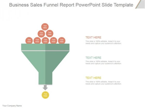 Business Sales Funnel Report Ppt PowerPoint Presentation Designs