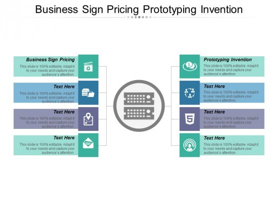 Business Sign Pricing Prototyping Invention Ppt PowerPoint Presentation Summary Model
