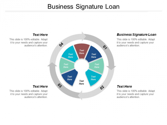 Business Signature Loan Ppt PowerPoint Presentation Model Grid Cpb