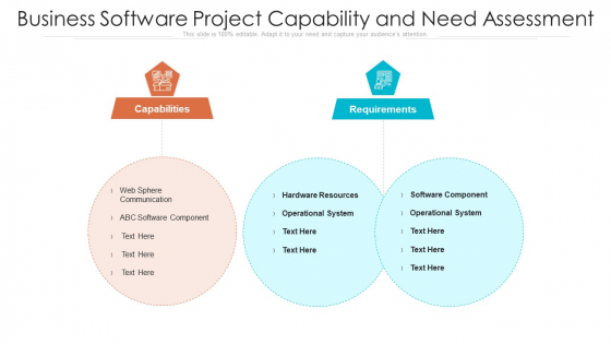Business Software Project Capability And Need Assessment Ppt PowerPoint Presentation Gallery Slideshow PDF