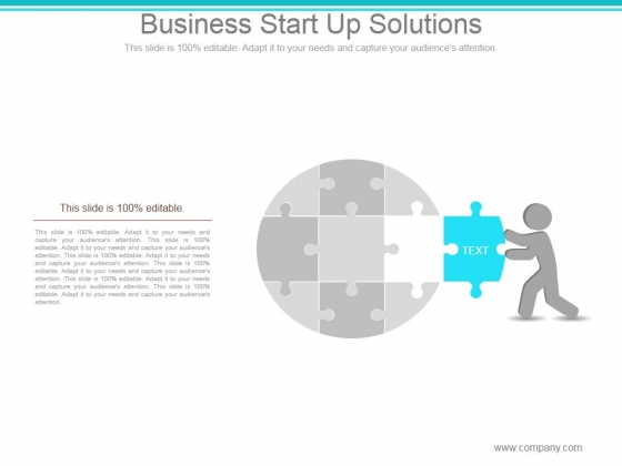 Business Start Up Solutions Ppt PowerPoint Presentation Outline