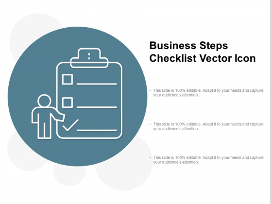 Business Steps Checklist Vector Icon Ppt PowerPoint Presentation Icon Clipart Cpb