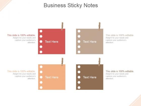 Business Sticky Notes Ppt PowerPoint Presentation Slide