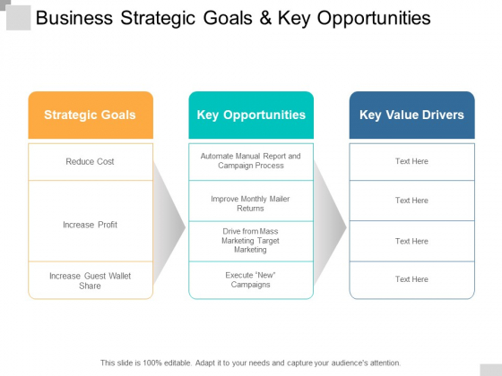 Business Strategic Goals And Key Opportunities Ppt PowerPoint Presentation Infographic Template Icon