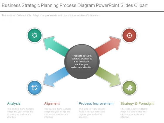 Business Strategic Planning Process Diagram Powerpoint Slides Clipart