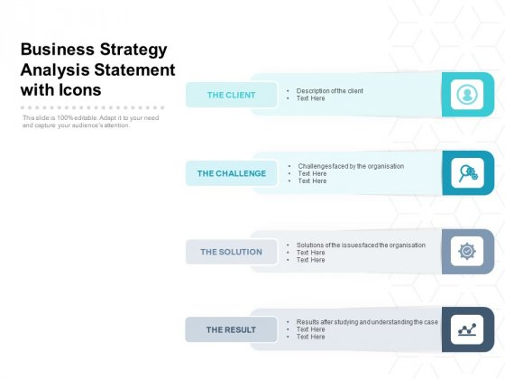 Business Strategy Analysis Statement With Icons Ppt PowerPoint Presentation Infographic Template Show