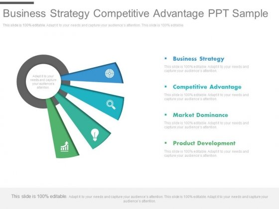 Business Strategy Competitive Advantage Ppt Sample