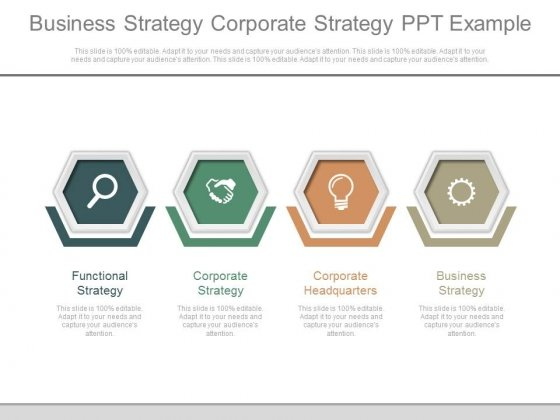 Business Strategy Corporate Strategy Ppt Example