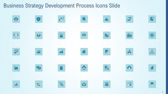 Business Strategy Development Process Icons Slide Template PDF