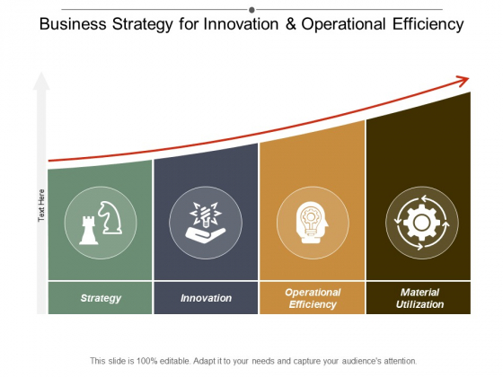 Business Strategy For Innovation And Operational Efficiency Ppt Powerpoint Presentation Slides Picture