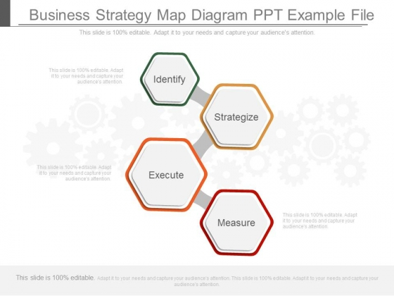 Business Strategy Map Diagram Ppt Example File