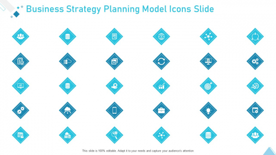 Business Strategy Planning Model Icons Slide Ppt Show Outfit PDF