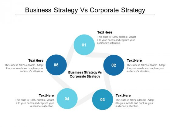 Business Strategy Vs Corporate Strategy Ppt PowerPoint Presentation Slides Backgrounds Cpb