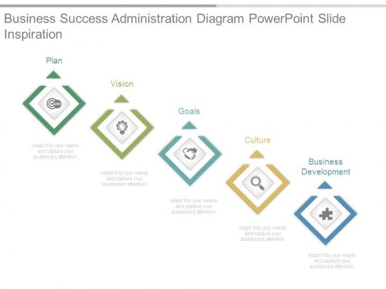 Business Success Administration Diagram Powerpoint Slide Inspiration