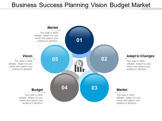 Business Success Planning Vision Budget Market Ppt PowerPoint Presentation Professional Design Inspiration