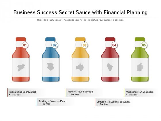 Business Success Secret Sauce With Financial Planning Ppt PowerPoint Presentation Pictures Graphics PDF