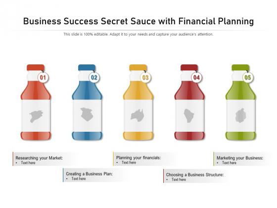 Business_Success_Secret_Sauce_With_Financial_Planning_Ppt_PowerPoint_Presentation_Pictures_Graphics_PDF_Slide_1