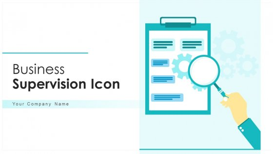 Business Supervision Icon Direction Ppt PowerPoint Presentation Complete Deck With Slides