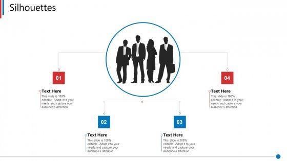 Business Synergies Silhouettes Ppt Ideas Visual Aids PDF