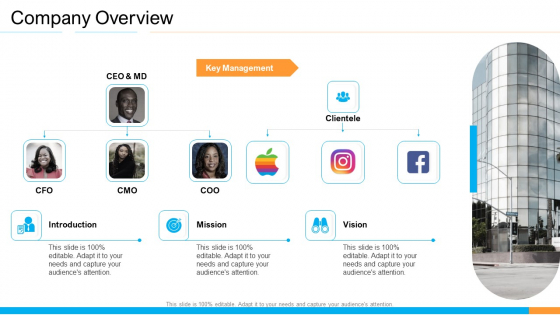 Business Takeover Plan For Inorganic Growth Company Overview Sample PDF
