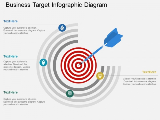 Business Target Infographic Diagram Powerpoint Template