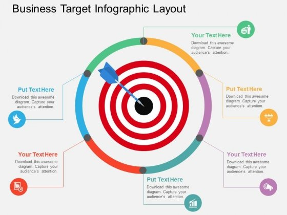 Business Target Infographic Layout Powerpoint Template