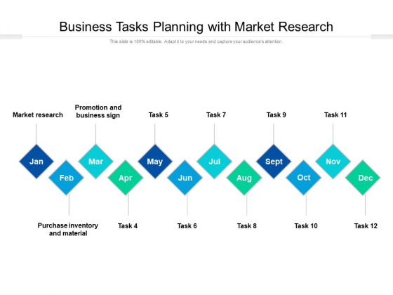 Business Tasks Planning With Market Research Ppt PowerPoint Presentation File Clipart Images PDF