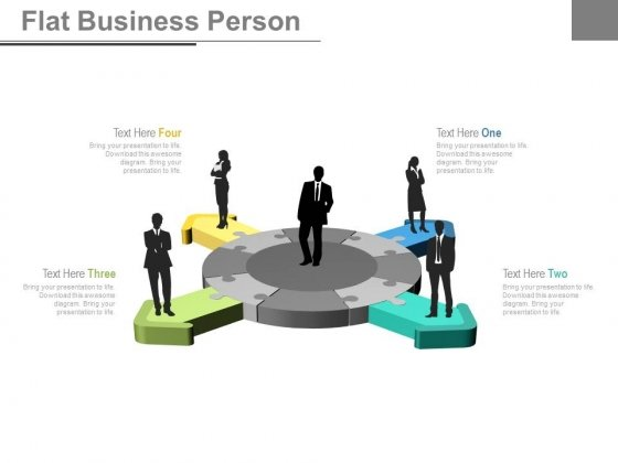 Business Team Circle Of Arrow Puzzles Powerpoint Slides
