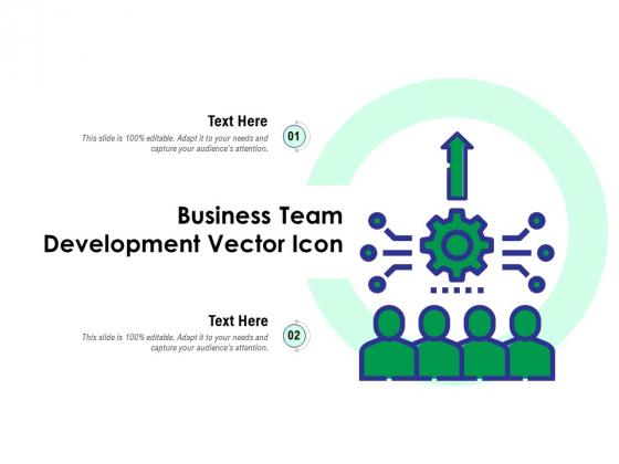 Business Team Development Vector Icon Ppt PowerPoint Presentation Icon Slides PDF