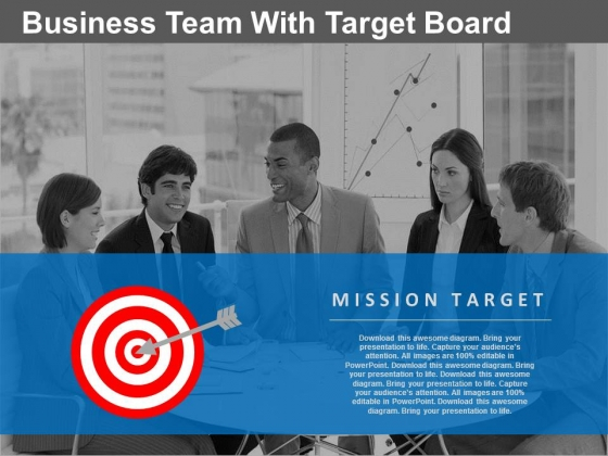 Business Team Discussing Targets Powerpoint Slides