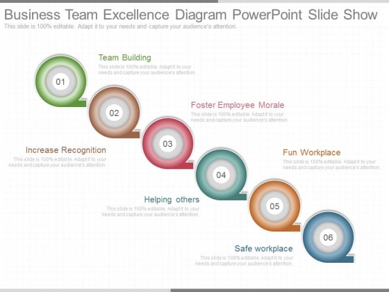 Business Team Excellence Diagram Powerpoint Slide Show