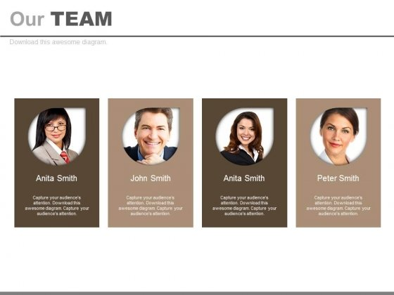Business Team Four Introduction Tags Powerpoint Slides