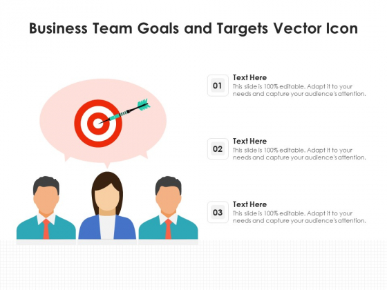 Business Team Goals And Targets Vector Icon Ppt PowerPoint Presentation Portfolio Graphics Tutorials PDF
