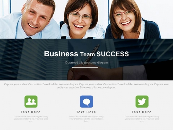 Business Team Happy For Their Success Powerpoint Slides