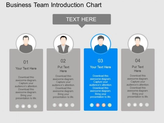 Business Team Introduction Chart Powerpoint Template