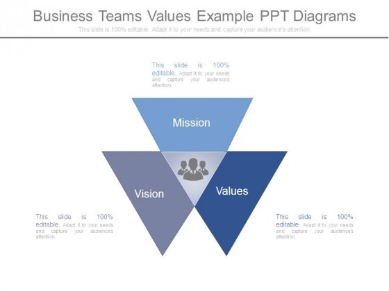 Business Teams Values Example Ppt Diagrams