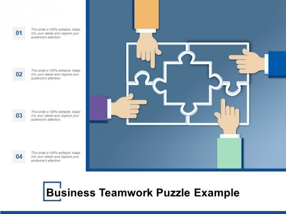Business Teamwork Puzzle Example Ppt PowerPoint Presentation Model Graphics Design