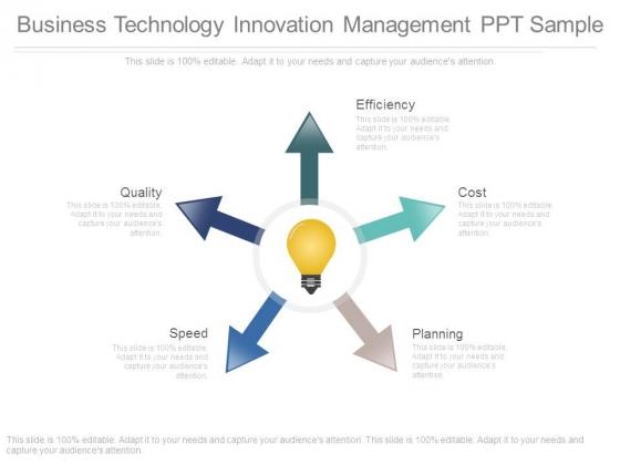 Business Technology Innovation Management Ppt Sample