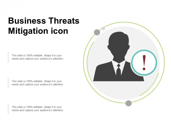Business Threats Mitigation Icon Ppt PowerPoint Presentation Show Portrait
