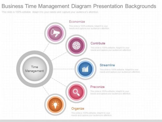 Business Time Management Diagram Presentation Backgrounds