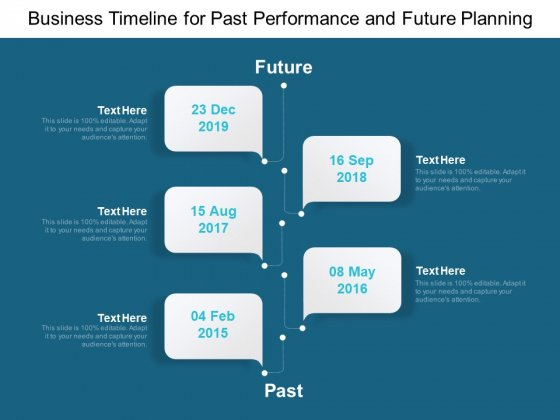 Business Timeline For Past Performance And Future Planning Ppt PowerPoint Presentation Summary Files