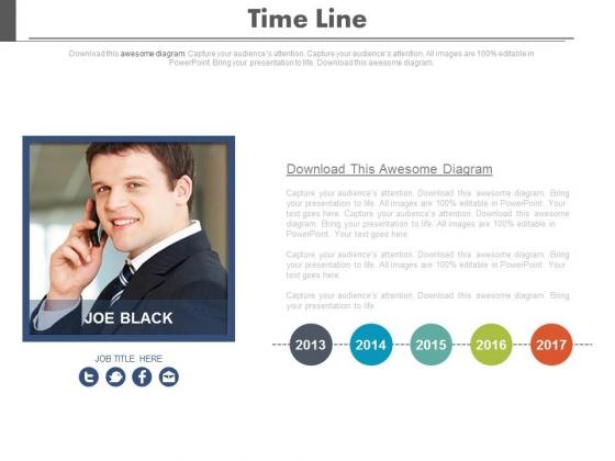 Business Timeline For Social Media Network Powerpoint Slides